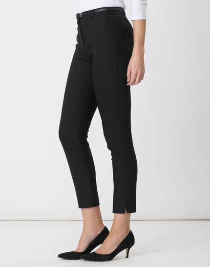 Pauline smart black trousers with belt (3) - 1-2-3