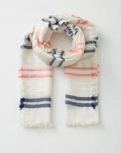 Sael stripy scarf rose.