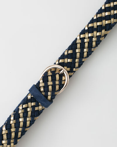 Yael blue braided leather belt (2) - 1-2-3