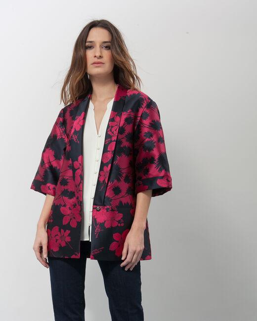 Kimono jacquard fuchsia Ursula (2) - 1-2-3
