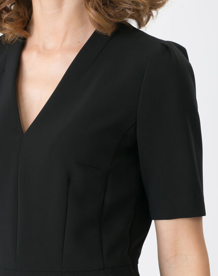 Bilbao black straight-cut dress (5) - 1-2-3