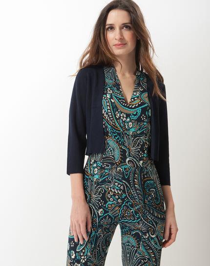 Hevening navy blue knit bolero (6) - 1-2-3