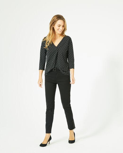 Bruna black polka dot T-shirt (1) - 1-2-3