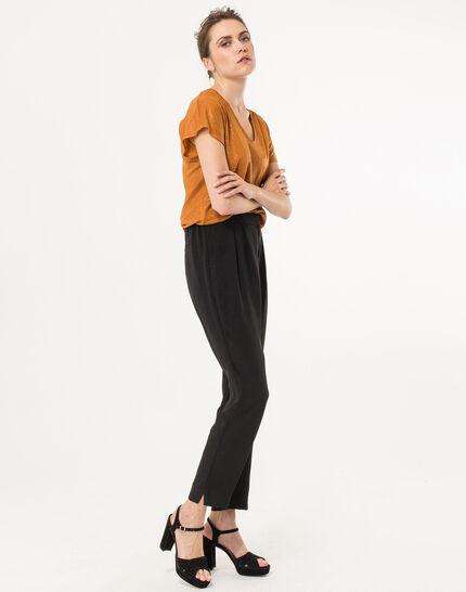 Tee-shirt ocre en lin Nuba (4) - 1-2-3