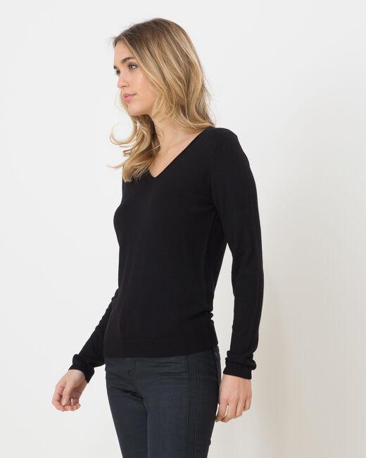 Pull noir manches longues Honorine (1) - 1-2-3