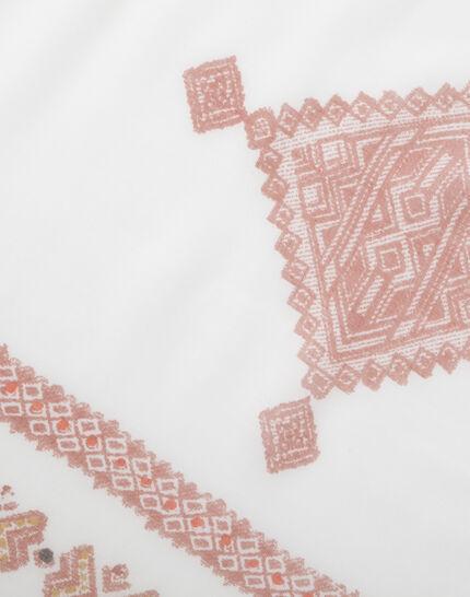 Salma red printed scarf (3) - 1-2-3