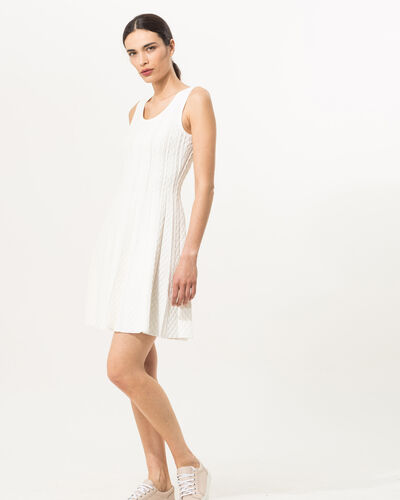 Robe blanche en maille Blake (1) - 1-2-3