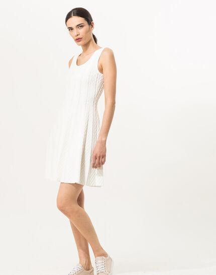 Blake white knitted dress (2) - 1-2-3