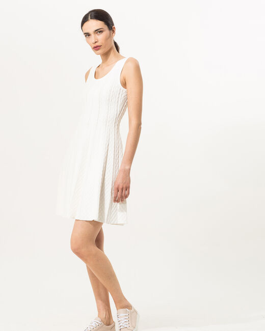 Blake white knitted dress (1) - 1-2-3