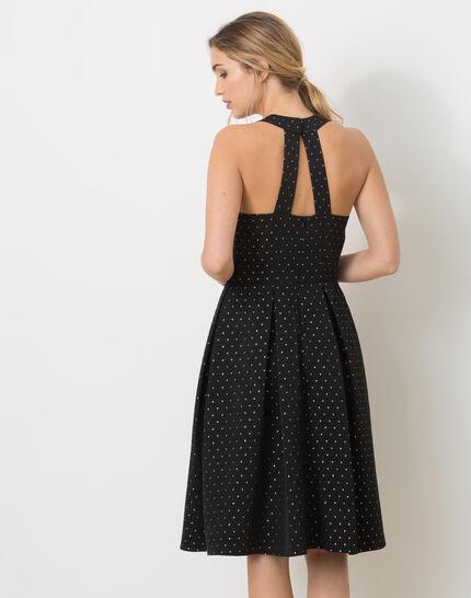 Robe noire en ottoman Felicity (4) - 1-2-3