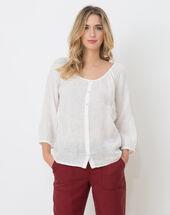 Erina ecru linen shirt ecru.