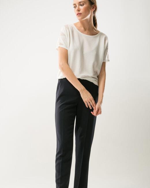 Pantalon de tailleur bleu marine slim Lara (2) - 1-2-3