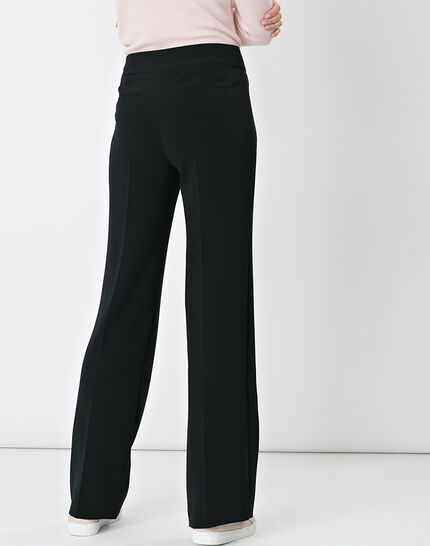 Nadège straight-cut black trousers (3) - 1-2-3