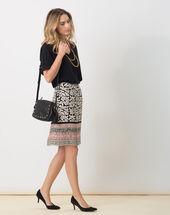 Dylane black and white printed skirt black/white.