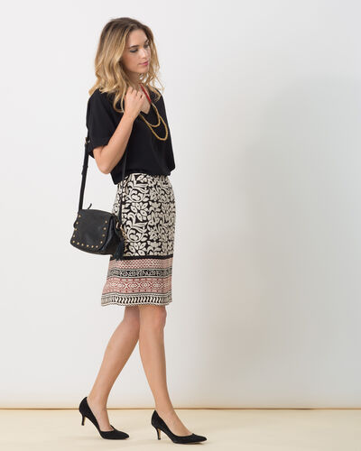 Dylane black and white printed skirt (2) - 1-2-3