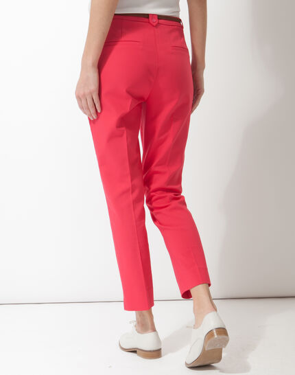 Pauline smart pink trousers with belt (4) - 1-2-3