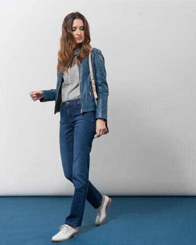 Gabin blue leather jacket (2) - 1-2-3