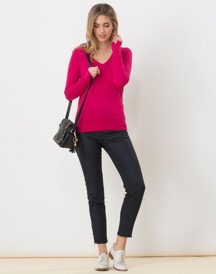 Honorine fuchsia sweater with long sleeves (2) - 1-2-3
