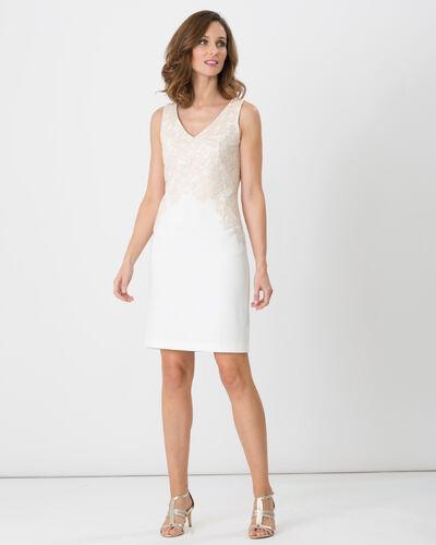 Felipa powder pink dress dress with lace (2) - 1-2-3