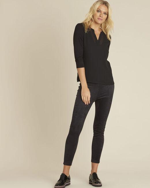 Tee-shirt noir manches 3/4 Bianca (1) - 1-2-3