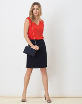 Domino navy blue tailored skirt navy.