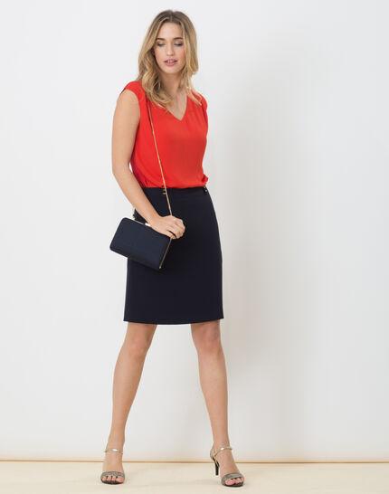 Domino navy blue tailored skirt PhotoZ | 1-2-3