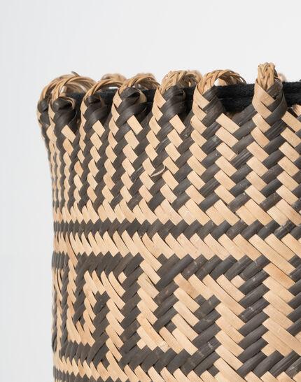 Pakito black and white beach basket (4) - 1-2-3