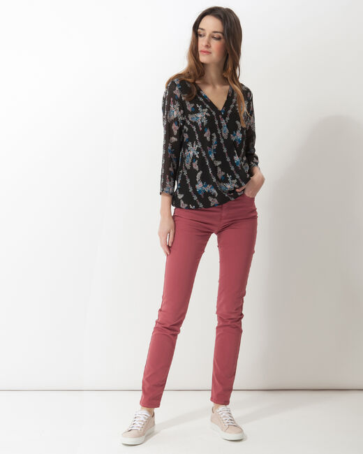 Fabiola black printed blouse (2) - 1-2-3
