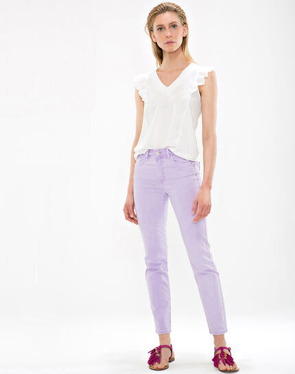 Oliver lilac cropped trousers (2) - 1-2-3