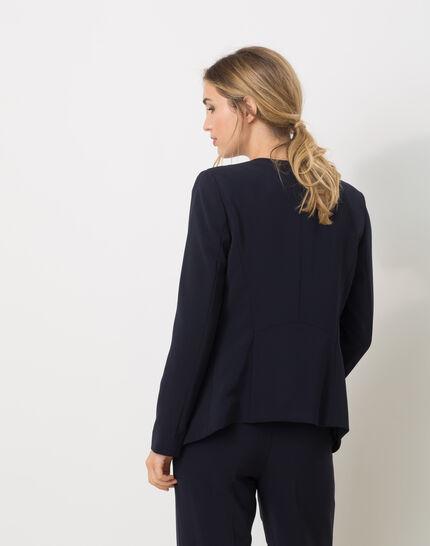 Maite belted navy blue jacket (4) - 1-2-3