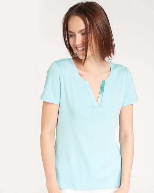 Tee-shirt céladon col strass Nirvana (2) - 1-2-3