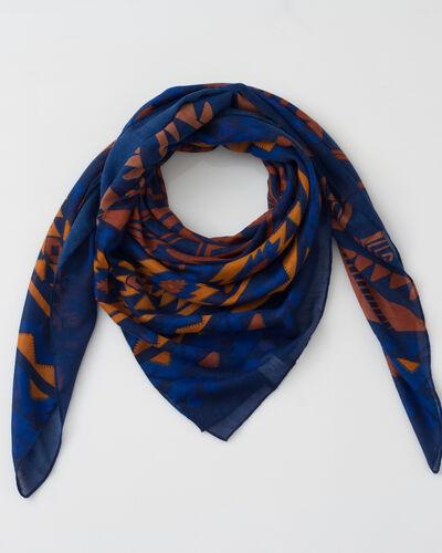 Foulard bleu imprimé Susanna (1) - 1-2-3