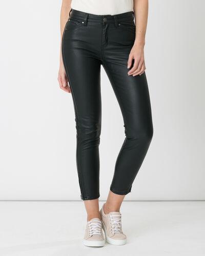 Pantalon 7/8ème noir enduit Pia (2) - 1-2-3
