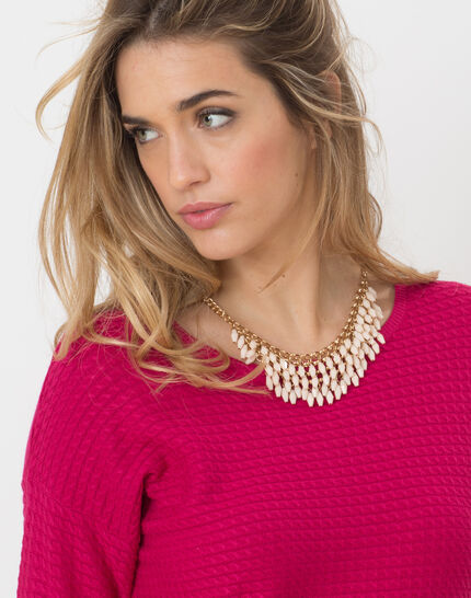 Hélice fuchsia sweater with long sleeves (5) - 1-2-3