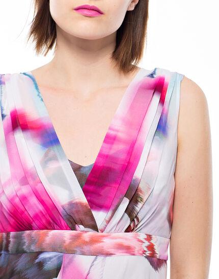 Robe fuchsia imprimée Loulou (5) - 1-2-3