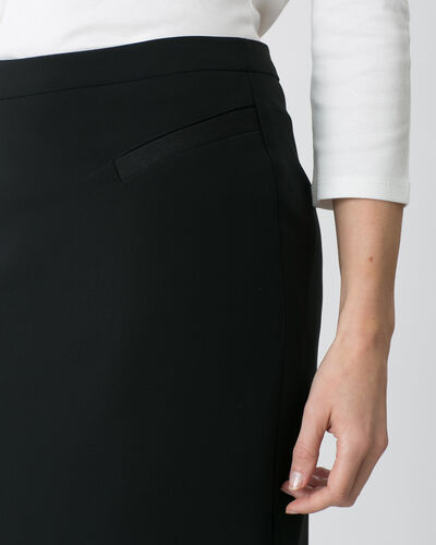 Jackie straight black skirt (2) - 1-2-3
