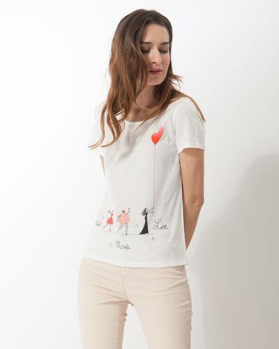 Tee-shirt impirmé Namoureuse (1) - 1-2-3