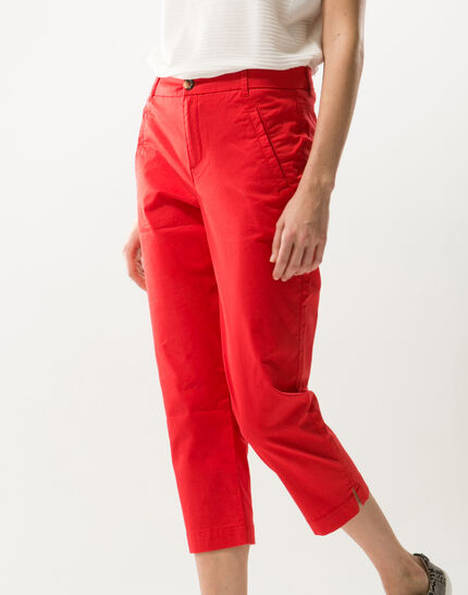 Filibert red cropped trousers (4) - 1-2-3