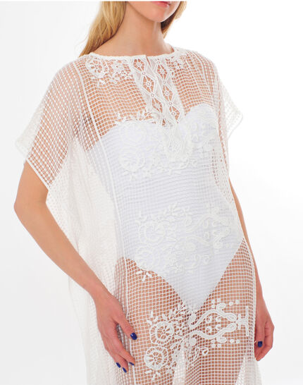 Sophie short white lace kaftan for the beach PhotoZ | 1-2-3