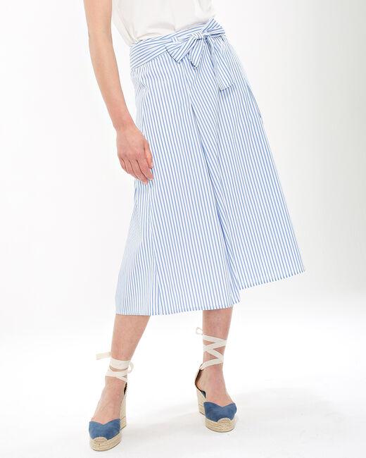 Jupe bleue rayée Doris (2) - 1-2-3