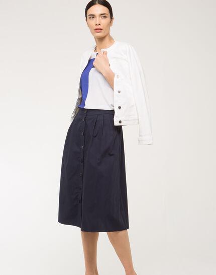 Uma white denim jacket with braided collar (6) - 1-2-3
