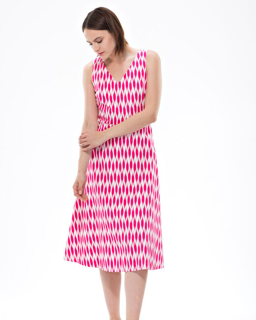 Fantine fuchsia printed dress (2) - 1-2-3