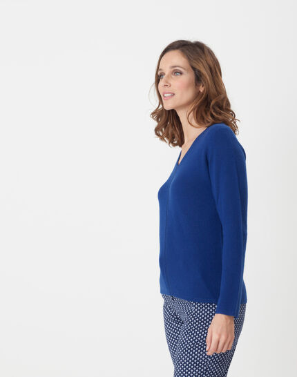 Heart dark blue cashmere jumper (3) - 1-2-3
