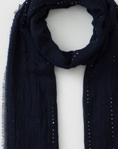 Safir sequined navy blue stole navy.