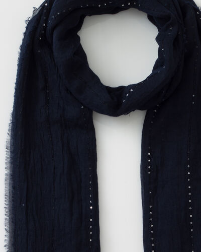 Safir sequined navy blue stole (2) - 1-2-3