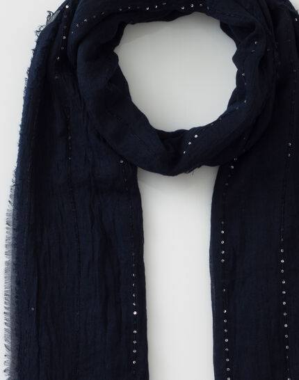 Safir sequined navy blue stole (1) - 1-2-3