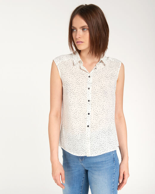 Armony flecked ecru top (1) - 1-2-3