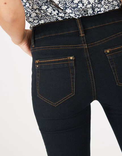 Pia 7/8th length black jeans (5) - 1-2-3