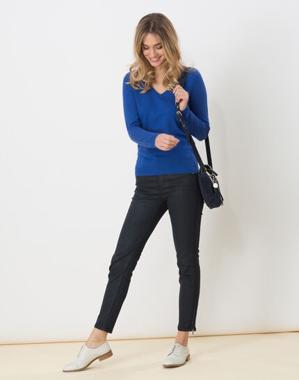 Honorine royal blue sweater with long sleeves (3) - 1-2-3