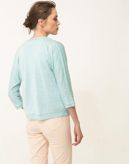 Hirondelle pale blue knitted jacket (4) - 1-2-3